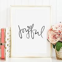 Kunstdruck, Sprüche Poster: Joyful   Hochwertiges und festes Premiumpapier   Ohne Rahmen