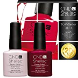 CND Shellac UV/LED Power Polish, Romantique/Decadence 7,3 ml – 2 Stück