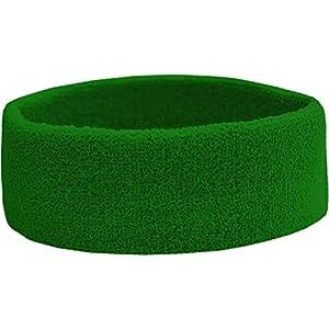 Terry Headband – Frottee Stirnband für Sport & Freizeit Farbe Gruen