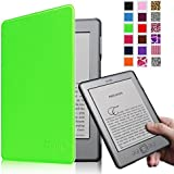 Fintie Kindle 5 & Kindle 4 Ultra Slim Case - The Thinnest and Lightest PU Leather Cover with Magnet Closure (Only Fit Amazon Kindle With 6'' E Ink Display, does not fit Kindle Paperwhite, Touch, or Keyboard), Green