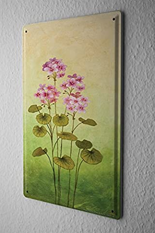 Plaque émaillée Plantes Géraniums