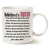 This Might be Wine, Tazza da caffè con scritta motivazionale per infermieri in lingua inglese, in porcellana bianca, 414 ml, regalo per infermieri