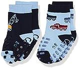 Sterntaler Baby-Jungen Socken ABS-Krabbelsöckchen DP Kran, Blau (Himmel 325), 16