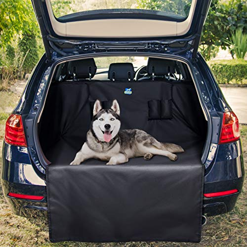 Jekam Kofferraum-Schutz Hund mit praktischer Transporttasche Kofferraumschondecke mit Seitenschutz für Kombi und SUV ...