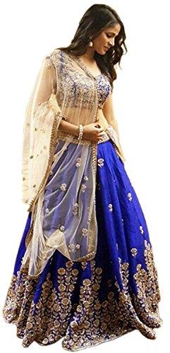 Izonme Womens Lehenga Choli (IZONMEL101_Blue Free Size)