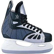 L.A. Sports scarpe da Hockey su ghiaccio Soft Boot, Unisex, Eishockeyschuhe Soft Boot, Nero/grigio/bianco, 36-37