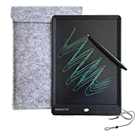 10 Inch LCD Writing Tablet,KRIEITIV 10 Inch LCD Drawing Board Message Board Handwriting Pad E-Write Drawing Graffiti Board with Stylus for Kids, Family Memo, Office Writing