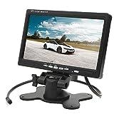 17,8 cm 7 Zoll Inch TFT LCD Video Digital Monitor Stand Einbaurahmen für Auto PKW KFZ Rückfahrkamera Rückfahrsystem mit zwei Videoeingängen schwarz YMPA LCM-ST7