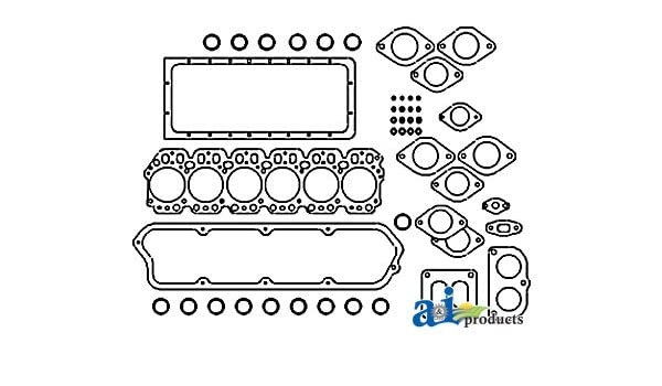 HCNAR53625 John Deere Engine Tractor Upper Gasket Set Part No: A-AR53625 HS4221 351526 HCNAR-53625 HS3214VW