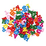 #9: Phenovo 100 Pieces DIY Wooden Alphabet for Children Kids Early Learning Toy Gift