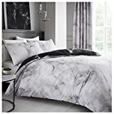 Gaveno Cavailia Luxurious MARBLE Bed Set with Duvet Cover and Pillow Cases, Polyester-Cotton, White, Double