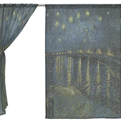 jstel-2pices-en-tulle-voile-fentre-chambre-dcoration-rideau-semi-transparent-peinture-huile-van-gogh