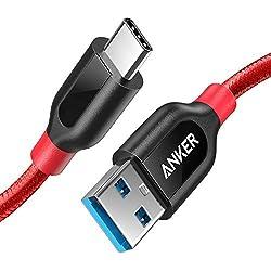Anker PowerLine+ 90cm USB C Kabel auf USB 3.0 A, lebenslange Garantie, sehr Beständig für USB Typ-C Geräte Inklusive Galaxy S8, S8+, MacBook, Sony XZ, LG V20 G5 G6, HTC 10, Xiaomi 5 und weitere (Rot)