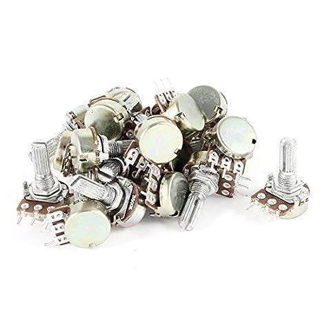 20 Pcs 500K Ohm B500K 3 Pins Single Linear Taper Rotary Potentiometers