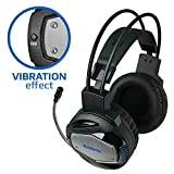 Gaming Headset Defender für PC, PS4, Xbox One & etc.–Vibration Effekt, professionelle Wired Gaming Bass Over-Ear