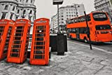 Stoff / beste Jersey-Qualität / Jersey Panel London, Bus,