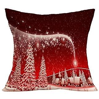 Auxma ❉❉❉ Weihnachtskissenbezug Weihnachtskissen-Kasten-Sofa-Taillen-Wurf-Kissen-Abdeckungs-Ausgangsdekor (B)