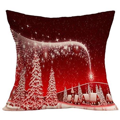Baumwolle Floral Kopfkissenbezug (❉❉❉ Weihnachtskissenbezug Auxma Weihnachtskissen-Kasten-Sofa-Taillen-Wurf-Kissen-Abdeckungs-Ausgangsdekor (B))