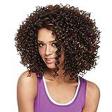 Cheveux Pleins Perruques Brun Fonce Boucles Courte Vague Raie Sur Le Cote Perruque Perruque Naturel Waves Femmes Perruque bouclée en cheveux naturels pour femme Véritables cheveux brésiliens (Marron)