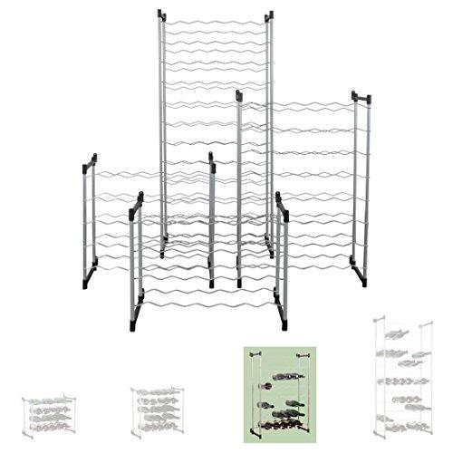 Weinregal / Flaschenregal System BARDOLINO, Metall mit Kunststoff überzogen, Modul 3 für 48 Fl., stapelbar / erweiterbar - H 83 cm x B 59 cm x T 26 cm