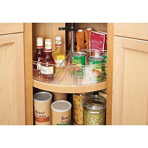 InterDesign Lazy Susan Cabinet Binz, Basket Wedge for Corner ...