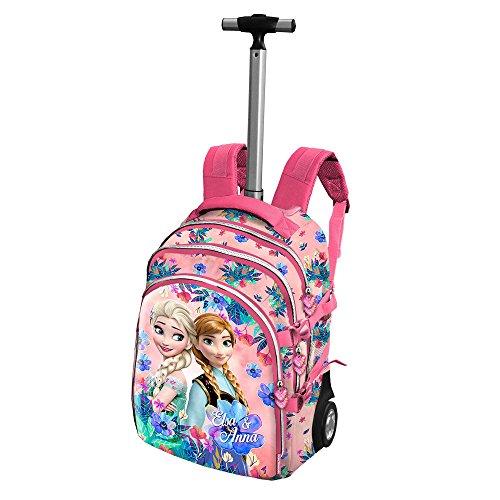 Frozen summer zaino trolley scuola con rotelle per ragazza bambina