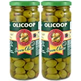 Olicoop Green Stuffed Olives, 450g, Pack of 2, Produced in Spain