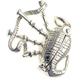 Welded Bliss Sterling 925 Silver Opening Scottish Bagpipes Charm Pendant WBC1497