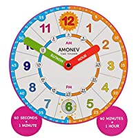 Amonev Time Teacher scope Magnet clock, teach children to Instantly read and say the time with this hand held teaching aid