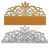 Lazzboy Fustelle Natale Scrapbooking Metallo Stencil Paper Card Craft per Sizzix Big Shot/Altre Macchine(E, Pizzo)