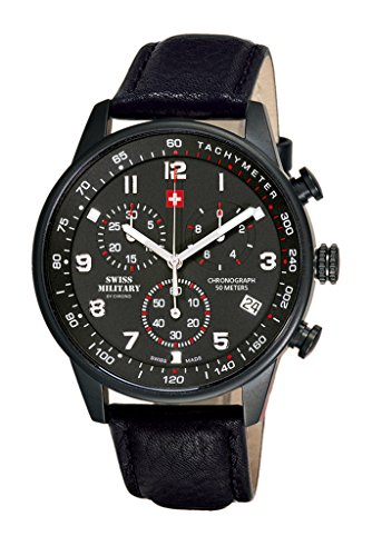 51bN0Wh93GL - Swiss Military SM34012.08 Chrono BLack Mens watch