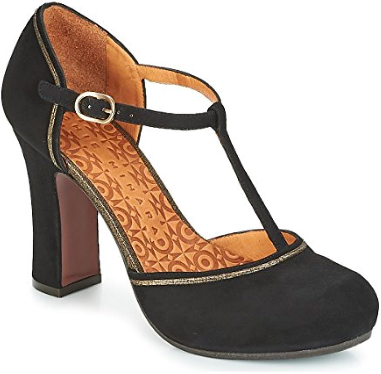 Chie Black Mihara Shoes in Black Chie Suede   Heel, Femme.B07G5D295GParent be1f04