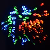 Solalite - 50 LED Multi Coloured String Solar Powered Fairy Lights Garden Party Christmas Outdoor