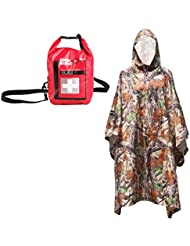 Sharplace Imperméable Imper Bionique Chasse Camping Camouflage avec First Aid Kit Sac Médical d'Urgence