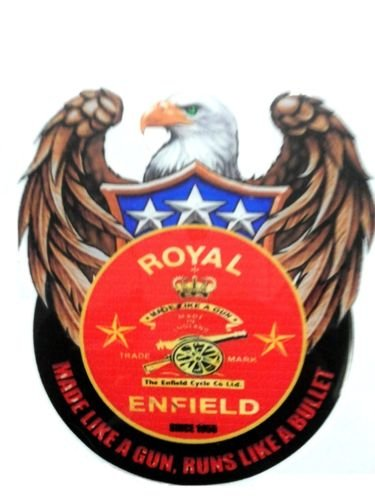Delhi Traderss Custom Made Like A Gun Tank Pad Sticker For Royal Enfield Bullet Sticker