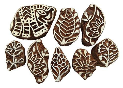 timbro-in-legno-intagliato-a-mano-motivo-floreale-stampa-blocchi-tessile-blocco-lotto-di-9-pezzi-bro