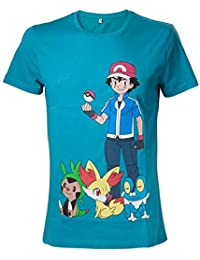 Pokemon Ash Ketchum Camiseta Turquesa S
