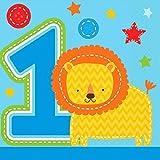 One Wild Boy - kleine Servietten, 16er Pack, 25cm x 25cm - Tischdeko zum 1. Geburtstag