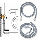 Stabilo-Sanitaer Anschluß-Set 3.5m Zulaufschlauch Ablaufschlauch Anschlußschlauch Waschmaschine