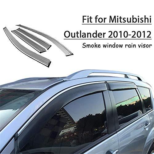 HCDSWSN Windabweiser,4 stücke Auto Styling Rauch Fenster Sun Rain Visor Deflectors Guard, Für Mitsubishi Outlander 2010 2011 2012 Zubehör