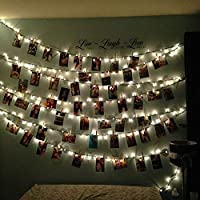 Cookey LED Photo Clip String Lights - 40 Photo Clips 5M Battery Powered LED Picture Lights for Decoration Hanging Photo , Notes, Artwork from Cookey