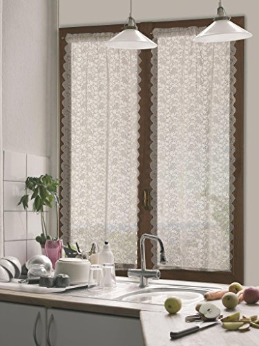 Home collection tcdeb116/150 tendina coppia debby, poliestere, naturale, 60x150 cm, 2 unità