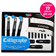 Calligraphy Pen Set - Complete 3 Pen 17-piece Calligraphy Writing set by PABLO ● Free-flowing pens designed for right-handed writers ● Suitable for all levels