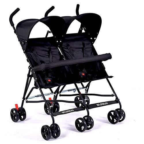 WYX-Stroller Ultraleichter Zwillingskinderwagen, Tragbarer Doppelkinderwagen, Kinderwagen Für Zwillinge, Kinderregenschirm Mit 2 Sitzen,c