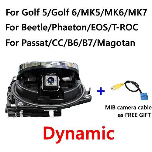 ZKJNMC Kompatibel mit Volkswagen Abzeichen Logo Smart Flip Rückfahrkamera Volkswagen Golf 5/6/7 MK6 / MK7 Passat Cc B6 / B7 / B8 Magotan Käfer,Golf6dynamics
