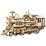 LHYP 3D Holz Puzzle Mechanische Zug Modell Selbstmontage Laserschneiden Beste Geburtstagsgeschenk Ingenieur Mann und Freund und Teen Boy und Erwachsene (Lokomotive)