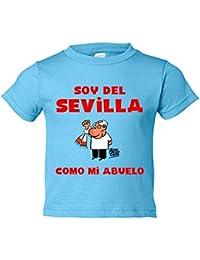 Camiseta niño soy del Sevilla como mi abuelo Jorge Crespo Cano