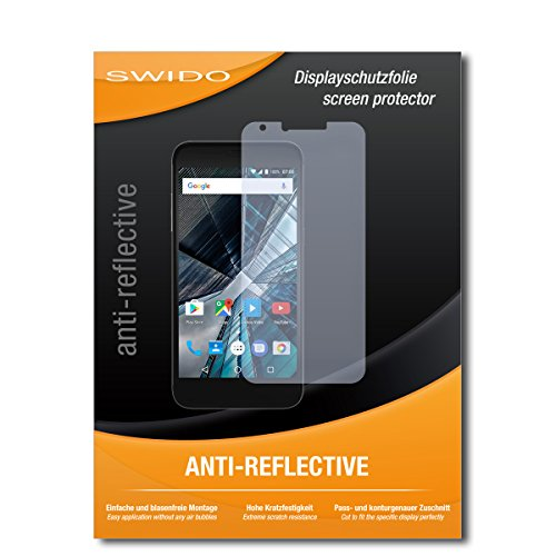 SWIDO Bildschirmschutz für Archos 55 Graphite [4 Stück] Anti-Reflex MATT Entspiegelnd, Hoher Härtegrad, Schutz vor Kratzer/Glasfolie, Schutzfolie, Bildschirmschutzfolie, Panzerglas Folie