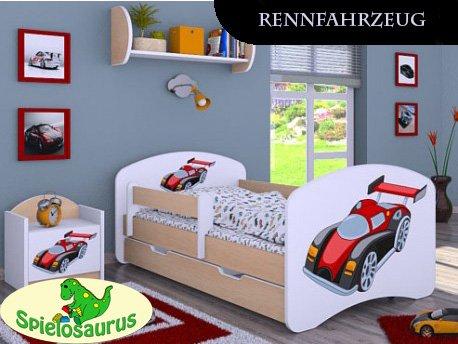 Kinderbett Rennfahrzeug - inkl. Schubladen und Matratze viele Farben… (180