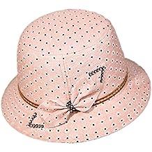 Hosaire 1x Sombreros del Sol Punto de Ola Pajarita para Mujer Gorras de Visera  UPF 50 9aef7a41f2e